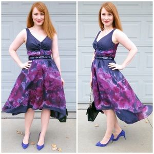Lela Rose Norman Marcus Watercolor Dress 2